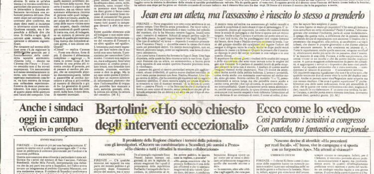 <b>13 Settembre 1985 Stampa: La Nazione</b>
