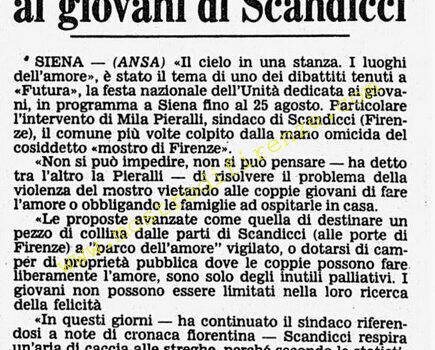 <b>19 Agosto 1985 Stampa: Corriere della Sera</b>