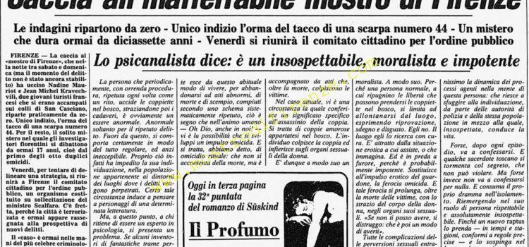 <b>11 Settembre 1985 Stampa: Corriere della Sera</b>