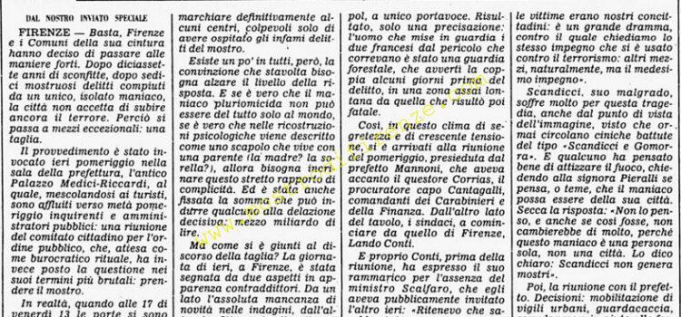 <b>14 Settembre 1985 Stampa: Corriere della Sera</b>