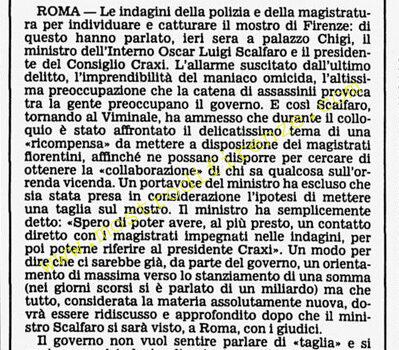 <b>17 Settembre 1985 Stampa: Corriere della Sera</b>