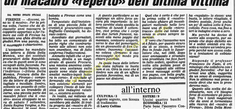 <b>27 Settembre 1985 Stampa: Corriere della Sera</b>