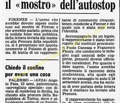 <b>22 Ottobre 1985 Stampa: Corriere della Sera</b>