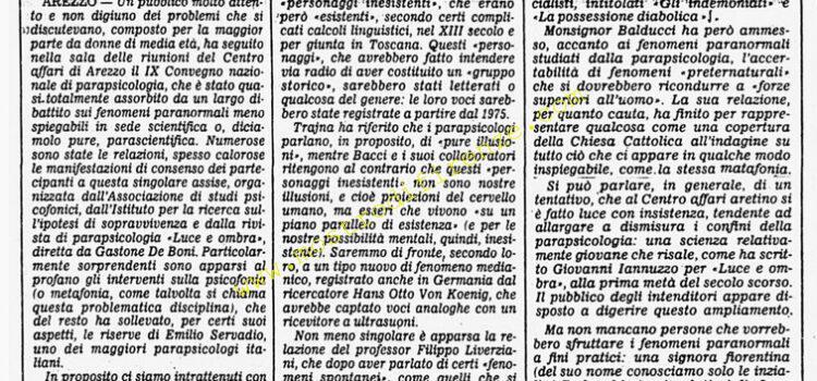 <b>28 Ottobre 1985 Stampa: Corriere della Sera</b>