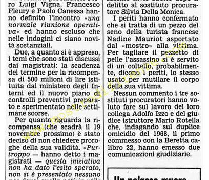 <b>5 Novembre 1985 Stampa: Corriere della Sera</b>