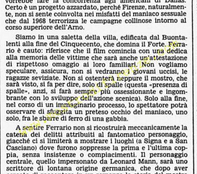 <b>20 Novembre 1985 Stampa: Corriere della Sera</b>