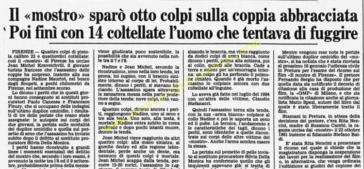 <b>28 Dicembre 1985 Stampa: Corriere della Sera</b>