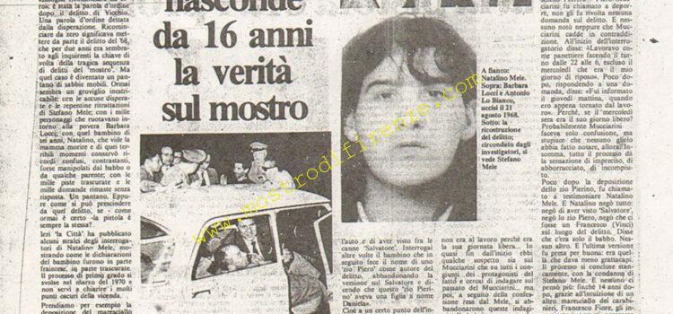 <b>23 Agosto 1984 Stampa: La Città</b>