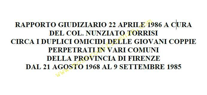 <b>22 Aprile 1986 Trascrizione rapporto Torrisi 311_1</b>