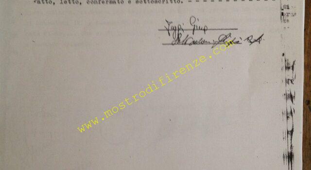 <b>8 Giugno 1981 Restituzione portafoglio e denaro di Giovanni Foggi</b>