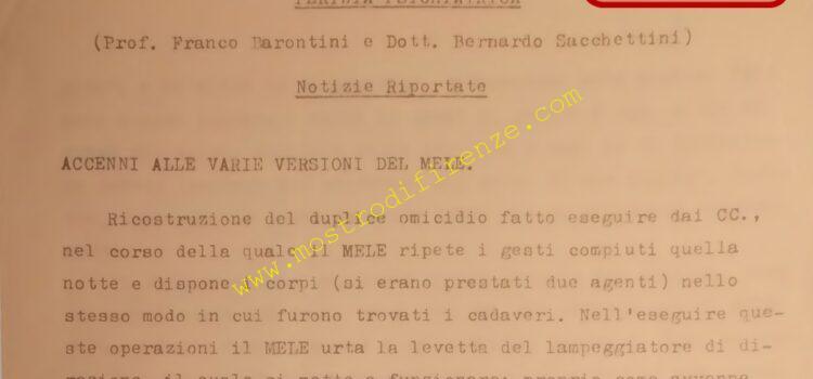<b>5 Febbraio 1969 Perizia psichiatrica di Stefano Mele</b>