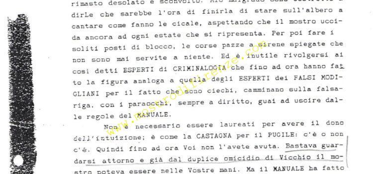 <b>1 Novembre 1991 Prima lettera dell'Anonimo Fiorentino</b>