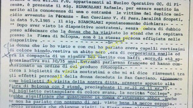 <b>11 Settembre 1985 Testimonianza di Raffaele Biancalani</b>