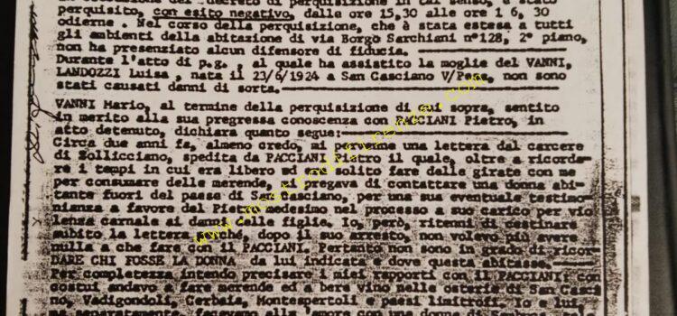 <b>10 Luglio 1991 Perquisizione e Interrogatorio di Mario Vanni</b>
