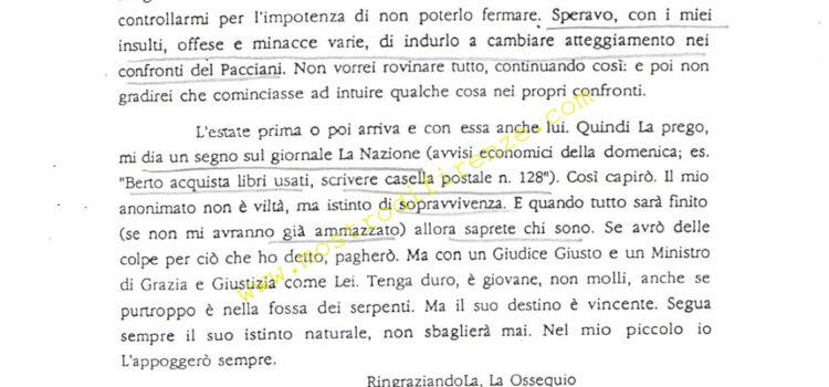 <b>5 Marzo 1992 Sesta lettera dell'Anonimo Fiorentino</b>