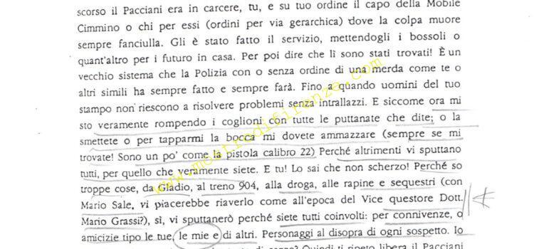 <b>5 Marzo 1992 Ottava, nona e decima lettera dell'Anonimo Fiorentino</b>
