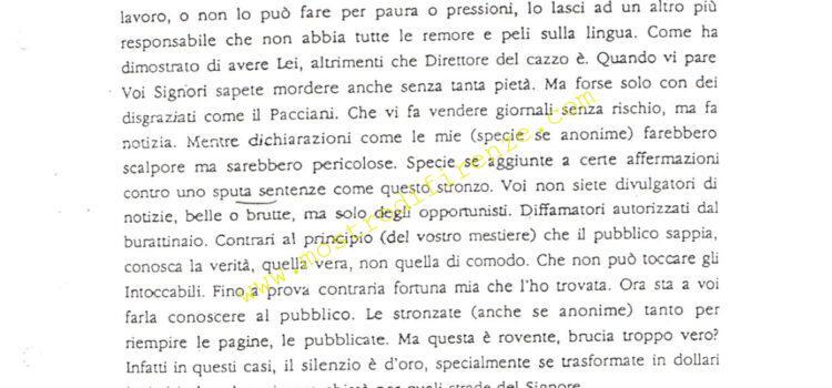 <b>5 Marzo 1992 Settima lettera dell'Anonimo Fiorentino</b>