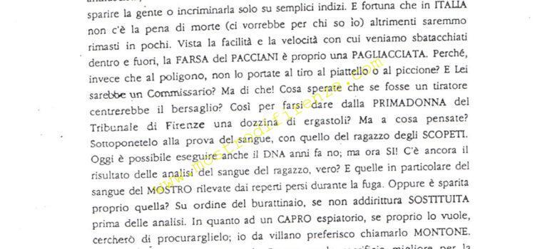 <b>8 Febbraio 1992 Quarta lettera dell'Anonimo Fiorentino</b>