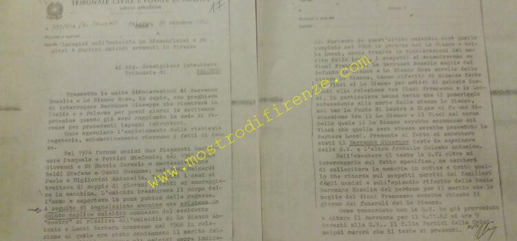 <b>29 Ottobre 1982 Richiesta di Vincenzo Tricomi al Consigliere Istruttore del Tribunale di Palermo</b>