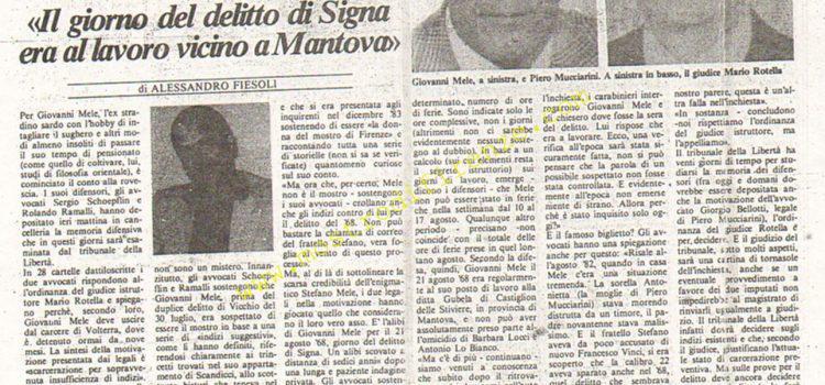 <b>18 Settembre 1984 Stampa: La Città</b>