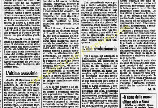 <b>23 Marzo 1986 Stampa: Corriere della Sera</b>