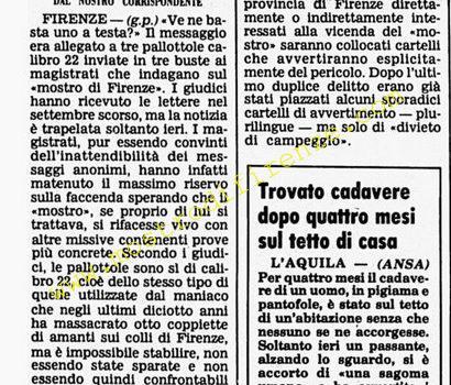 <b>23 Aprile 1986 Stampa: Corriere della Sera</b>