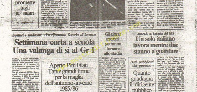 <b>21 Settembre 1984 Stampa: La Città</b>