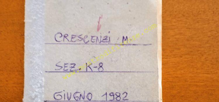 <b>29 Luglio 2021 Parte dell'agenda 1982 di M. Crescenzi</b>