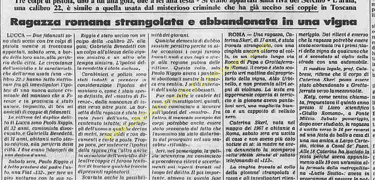 <b>23 Gennaio 1984 Stampa: Stampa Sera</b>