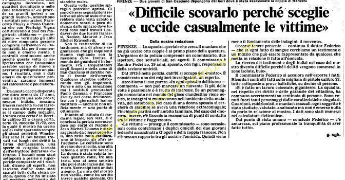 <b>12 Settembre 1985 Stampa: L'Unità</b>