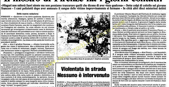 <b>13 Settembre 1985 Stampa: L'Unità</b>