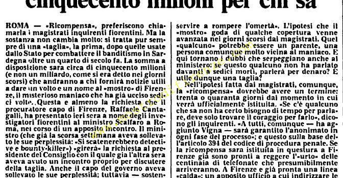 <b>18 Settembre 1985 Stampa: L'Unità</b>