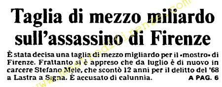<b>19 Settembre 1985 Stampa: L'Unità</b>