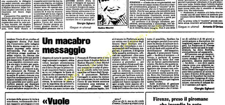 <b>27 Settembre 1985 Stampa: L'Unità</b>