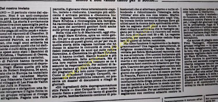 <b>29 Ottobre 1985 Stampa: L'Unità</b>