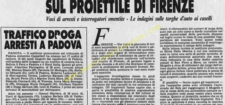 <b>1 Ottobre 1985 Stampa: Stampa Sera</b>