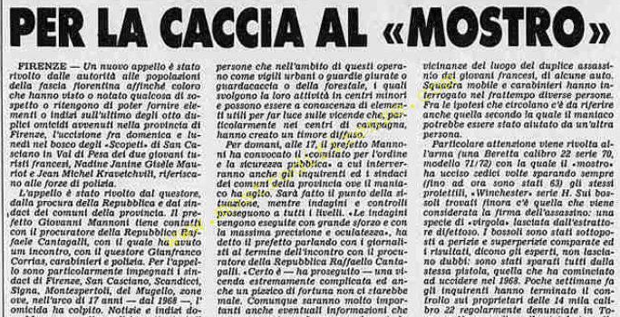 <b>12 Settembre 1985 Stampa: Stampa Sera</b>